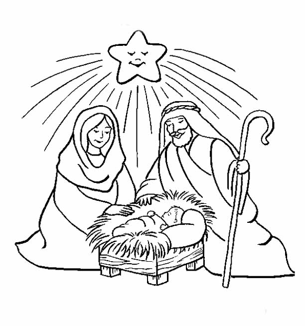 jesus birth colouring pages page 2