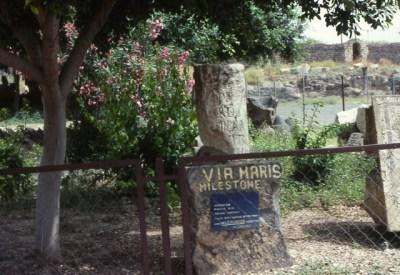 Picture of a Via Maris Milestone