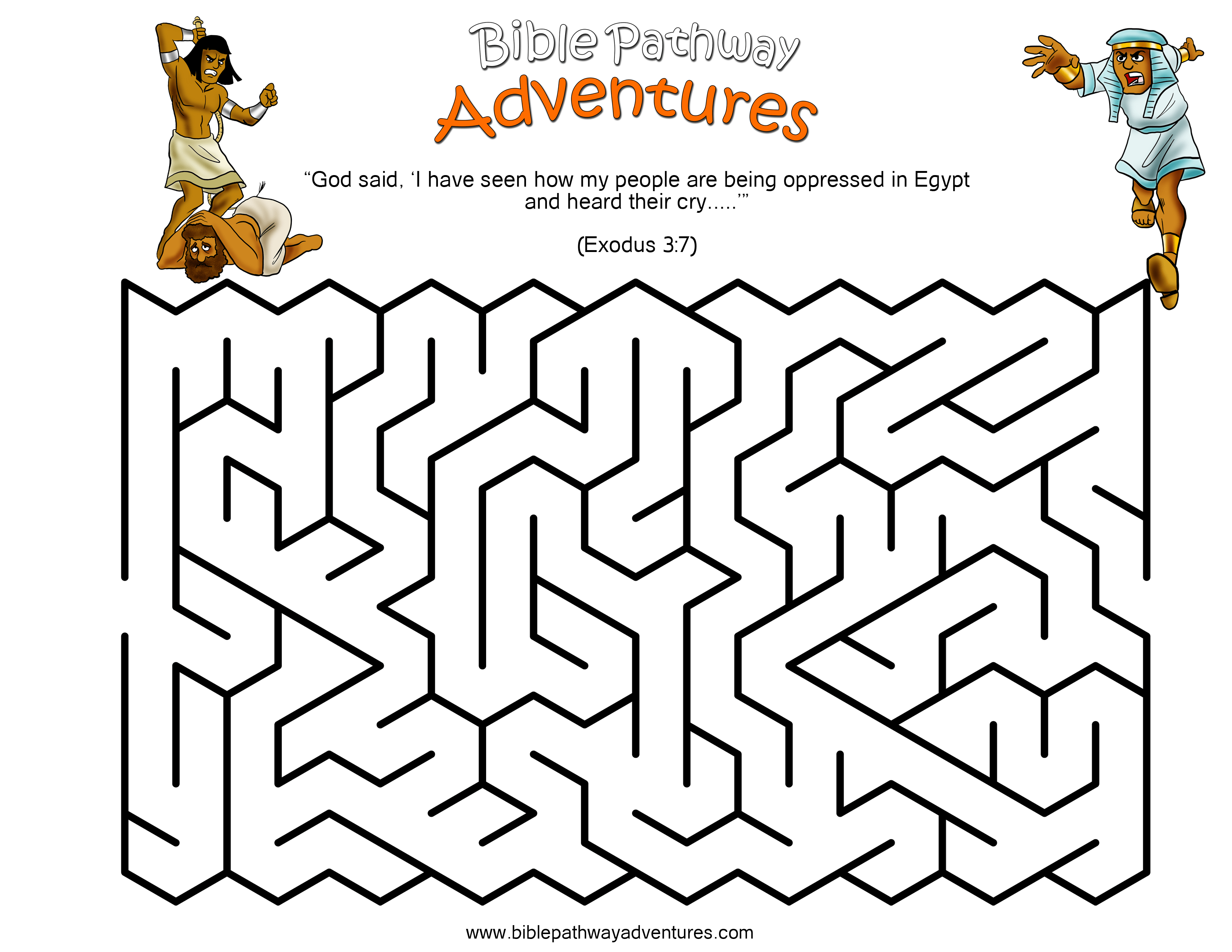 Moses Printable Maze Puzzles