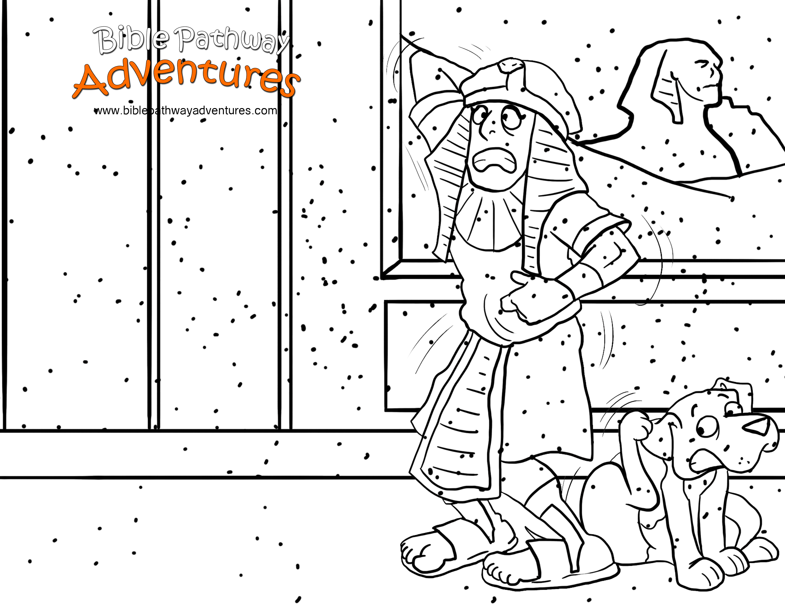 Free Bible Coloring Page The Ten Plagues