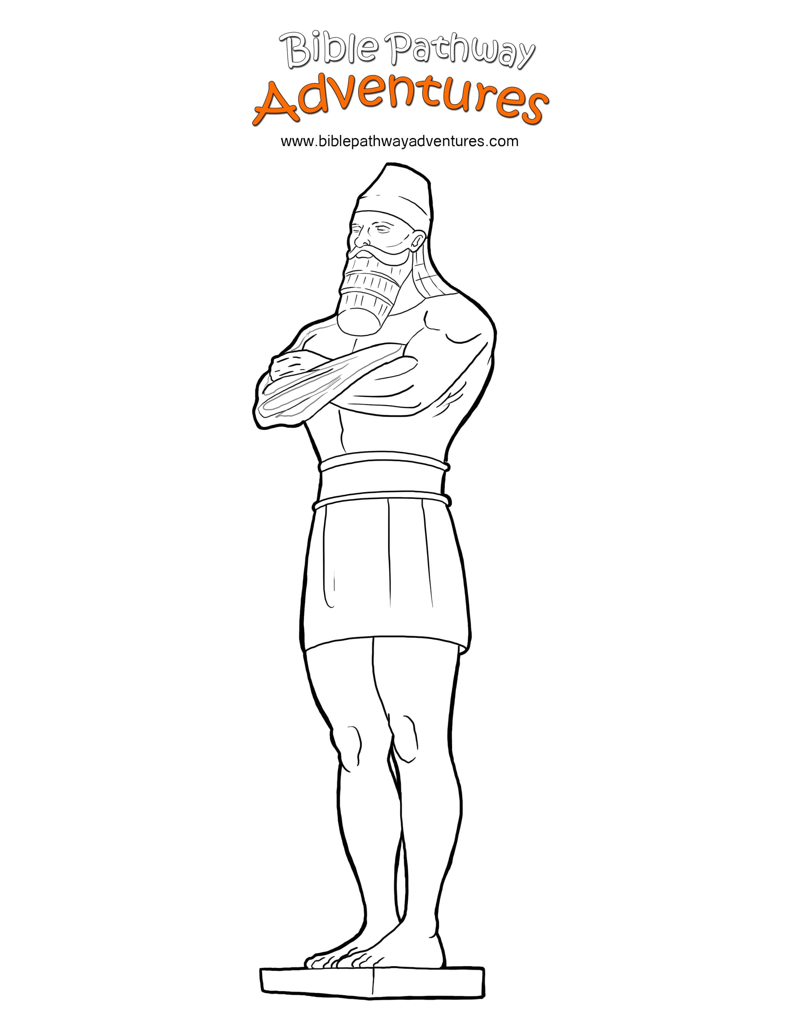 Free Bible Coloring Page King Nebuchadnezzar S Statue