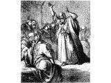 Ezekiel prophesying to the elders who had visited him - Ezek.14.1