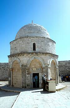 Octagon on top of Mount Olivet taken from www.bibleplaces.com