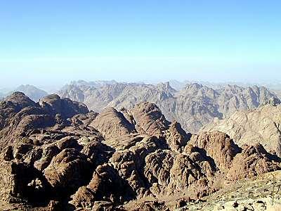 Paisaje en torno al monte Sinai
