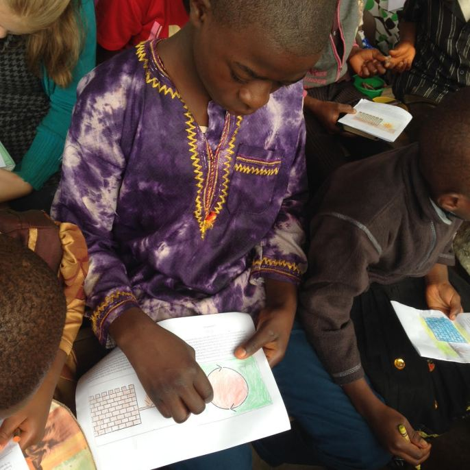 Children in Cameroon Coloring Bible StoryBoards