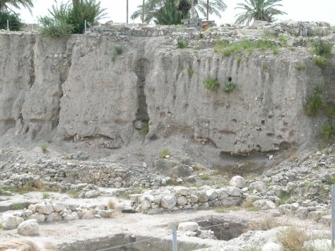 This photo shows an example of the number of layers of ancient Megiddo