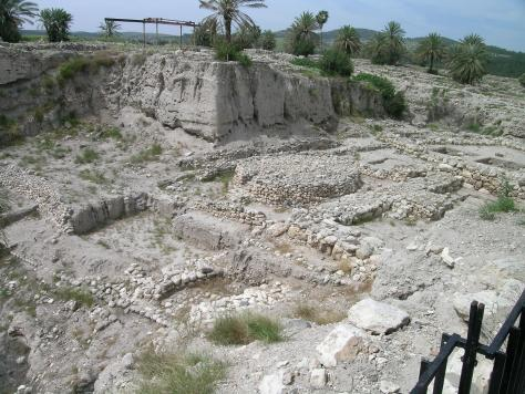 Canaanite altar and temple complex area at Tel Megiddo. Photo from 2006. Recent excavations have exposed more of this area.
