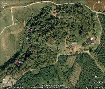 Aerial view of Tel Dan courtesy of google