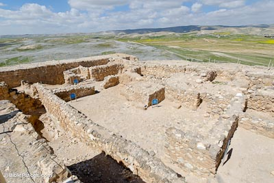 The temple complex at Tel-Arad. Photo from http://www.bibleplaces.com