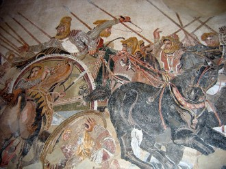 Famous painting of Alexander the Great's battle with Darius III of Persia. The Greeks viewed even the great Persian empire as barbarians.