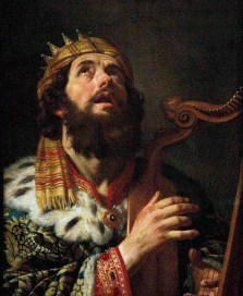 Isaiah pictures the coming Davidic King as Spirit-empowered to serve through weakness. Painting by Gerrit van Honthorst (1590-1656), 'King David Playing the Harp' (1611).