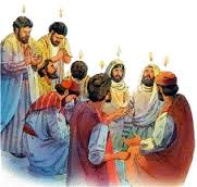 In Acts 2 the disciples receive the fulfilment of the prophecy in Joel 2:28-32.