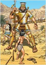 "David did not fall into the ""looks can be deceiving"" trap when he faced Goliath."