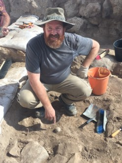 A picture of Luke participating in the archaeological dig at Tel Lachish