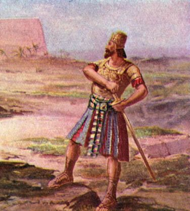 Artistic rendering of Joab, son of Zeruiah, King David's military commander