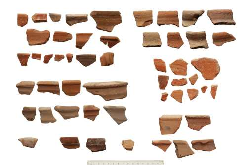 Pottery shards dating to the 10th-9th centuries B.C. (All photos from Temple Mount Sifting Project)