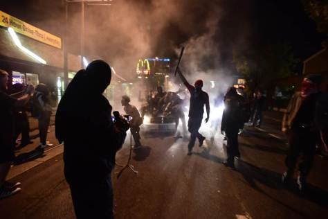 Anti-Trump protest in Portland erupts in violence.