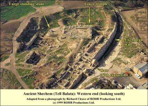 Temple of Baal Berith in ancient Shechem