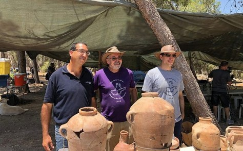 Lead archaeologists at Khirbet a-Ra'i
