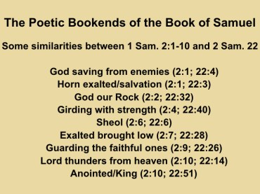 Hannah's song & David's psalm