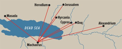 Map of Herod's palaces