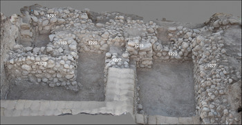 The area at Tel Lachish where the alphabet's missing link was discovered