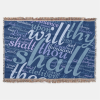 Throw Blanket with Psalm 91 words