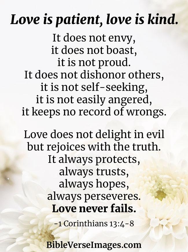 1 Never Love Corinthians Fails 13