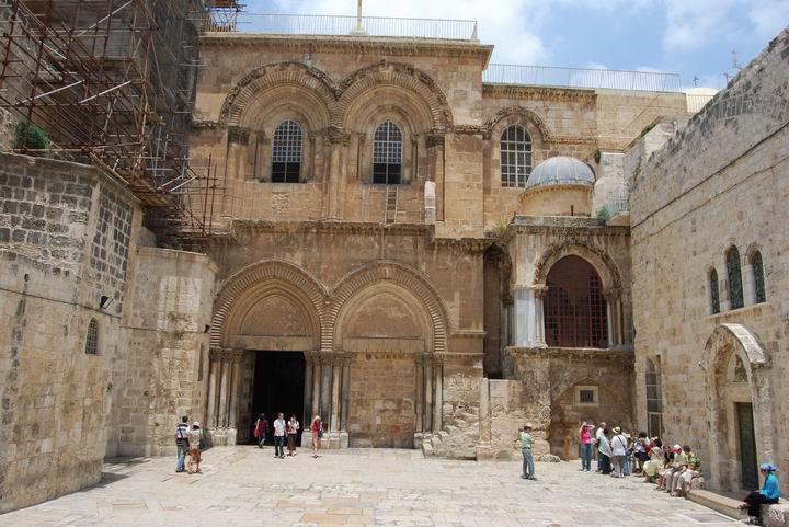 Entrance to the Church of Holy Sepulcher, Jerusalem.