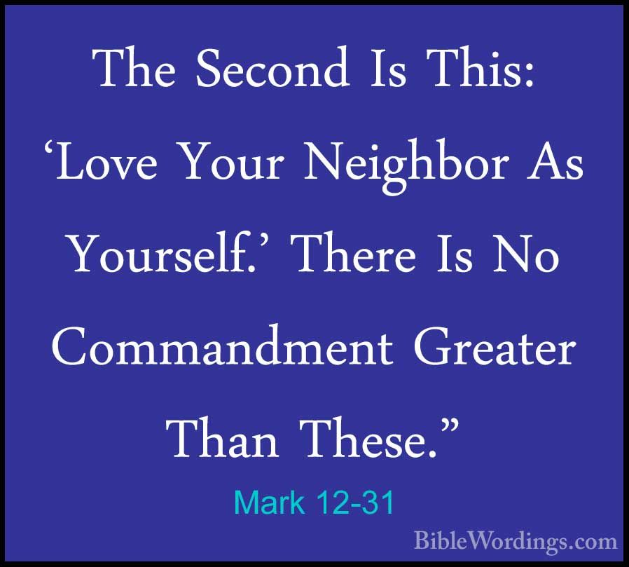 Love Your Neighbor Old Testament