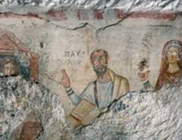 Frescoes on the Walls of Grotto of Paul in Ephesus