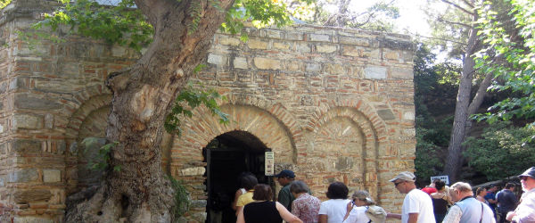Entrance of House of Virgin Mary Nearby Ephesus