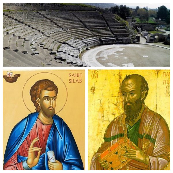Saint Silas and Apostle Paul in Ephesus