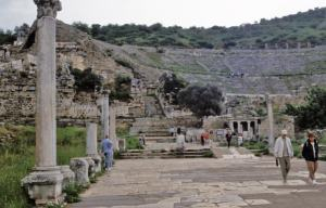 Theater in Ephesus is the place where Paul preached in Ephesus