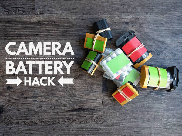 Camera battery hack