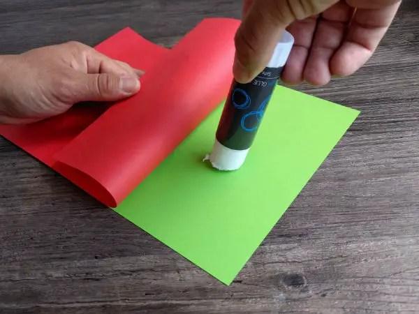 Glue paper together