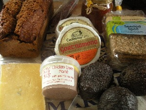 Irish cheese, pate, bread and crackers from the English Market, Cork