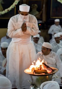 Jashan ceremony, The Banaji Atash Behram in Mumbai, 2011 Photo © KainazAmaria