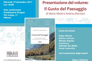 Invito presentazione volume Gusto del Paesaggio – 19 dicembre 2017
