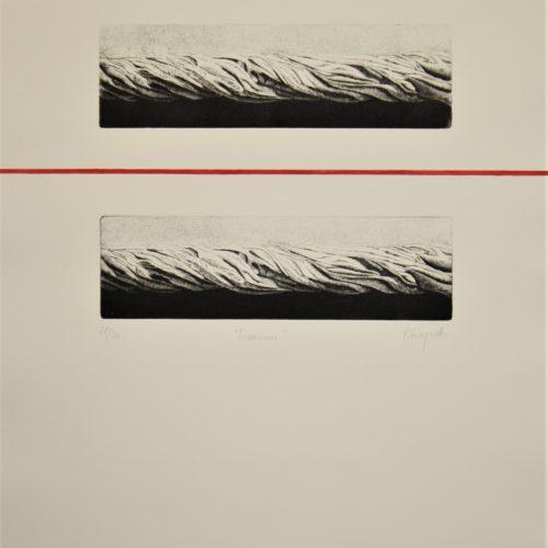 R.Cinquetti, Tensioni - 1992 50x70 cm