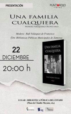 """Presentación del libro """"Una familia cualquiera"""" de Mario Vaquero Roncero"""