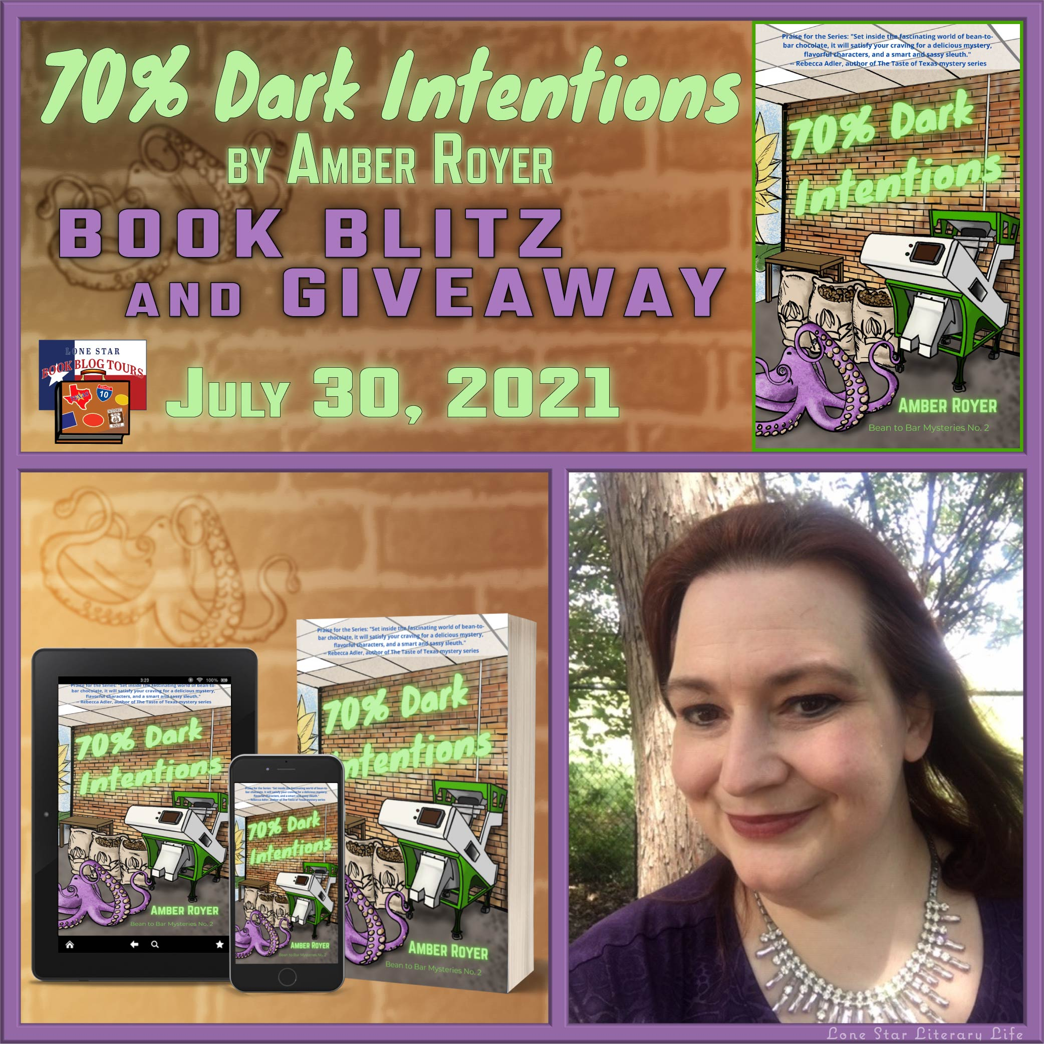 Spotlight with Giveaway: 70% Dark Intentions, by Amber Royer