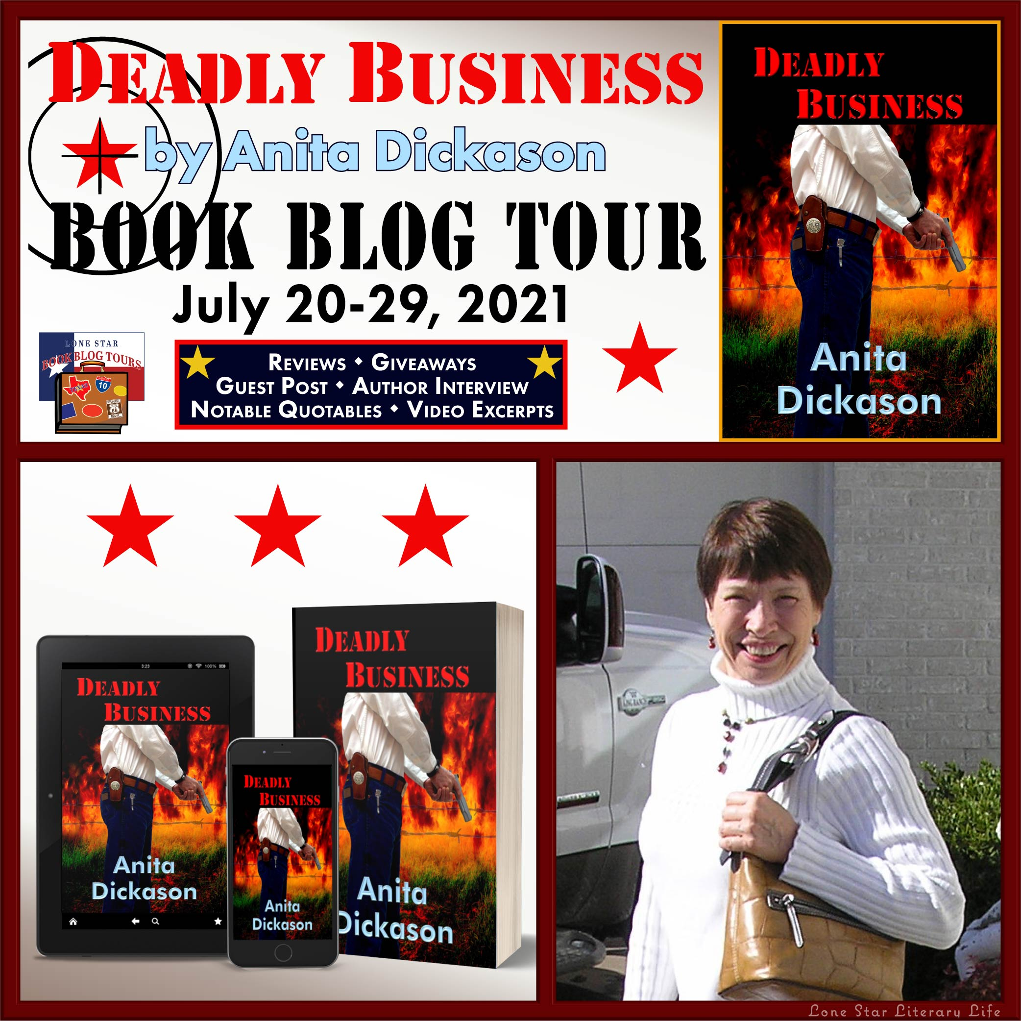 Review & Giveaway: Deadly Business by Anita Dickason
