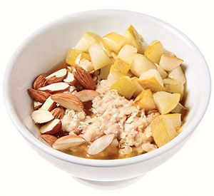 Resep Sarapan Sehat: Honey & Pear Oatmeal with Almond
