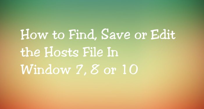 Host file location windows in 7