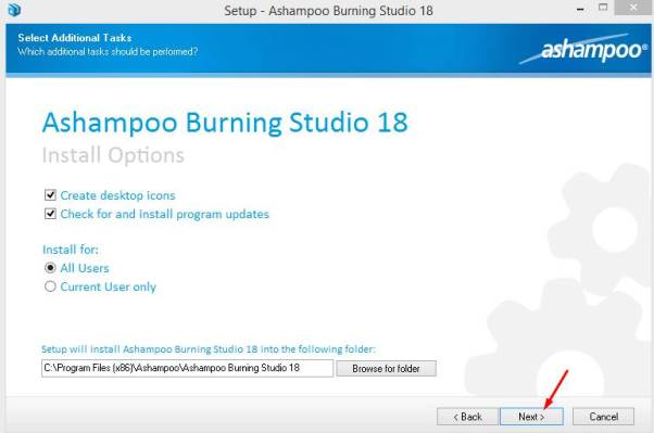 ashampoo burning studio license key Pic 2
