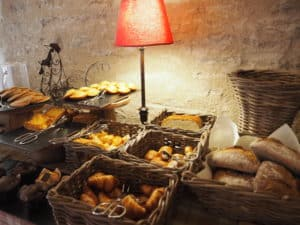 petit déjeuner bourgogne château de chailly