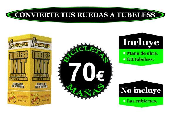 Promocion convertir ruedas a tubeless BM 1 Tienda de venta y reparacion de bicicletas en Leganes Fulcrum Madrid