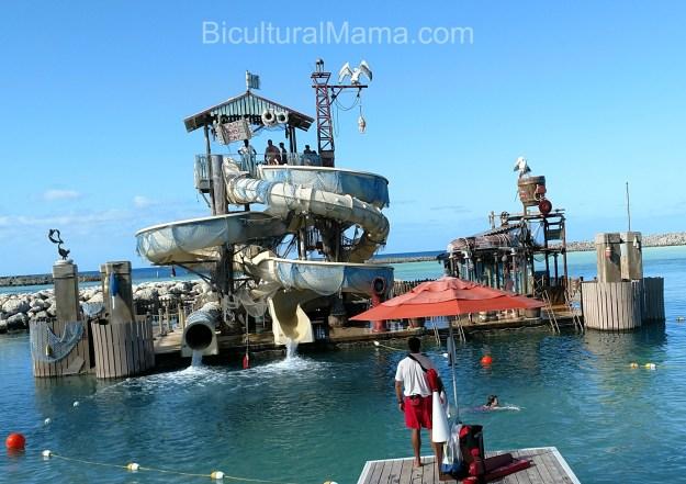 Bicultural Mama Castaway Cay Slide