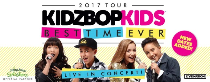 Kidz Bop Best Time Ever Tour Songs
